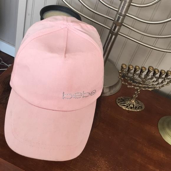 bebe Accessories - Bebe Pink ❤️Adjustable Rhinestone Baseball Cap